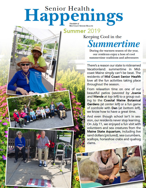 Senior Health Happenings - Summer 2019